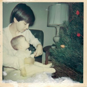 Mom & me, next to the tree (December 1967).